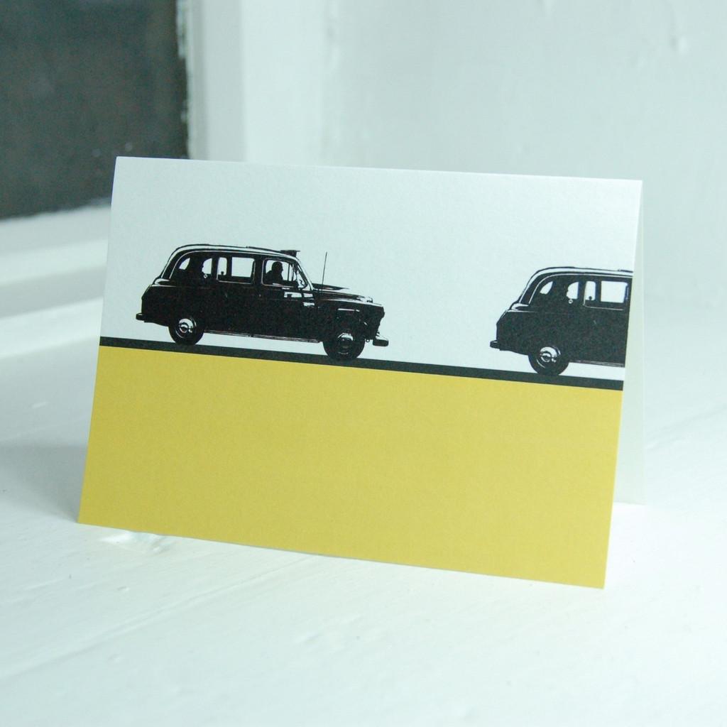 Jacky Al-Samarraie London Taxi Greeting Card