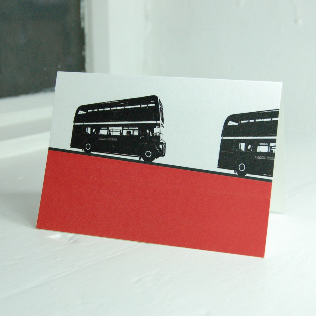 Jacky Al-Samarraie London Bus Greeting Card