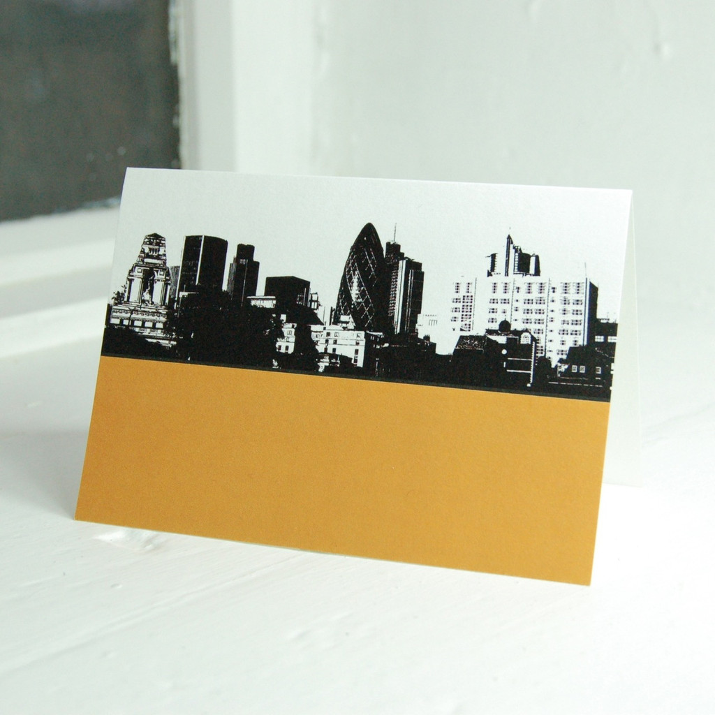 Jacky Al-Samarraie City of London & The Gherkin Greeting Card