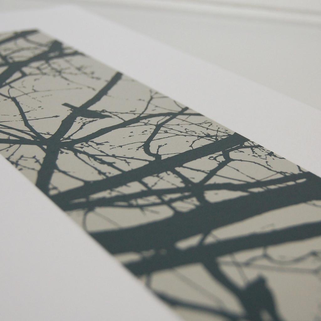 Jacky Al-Samarraie Grey Blackbirds Screen Print