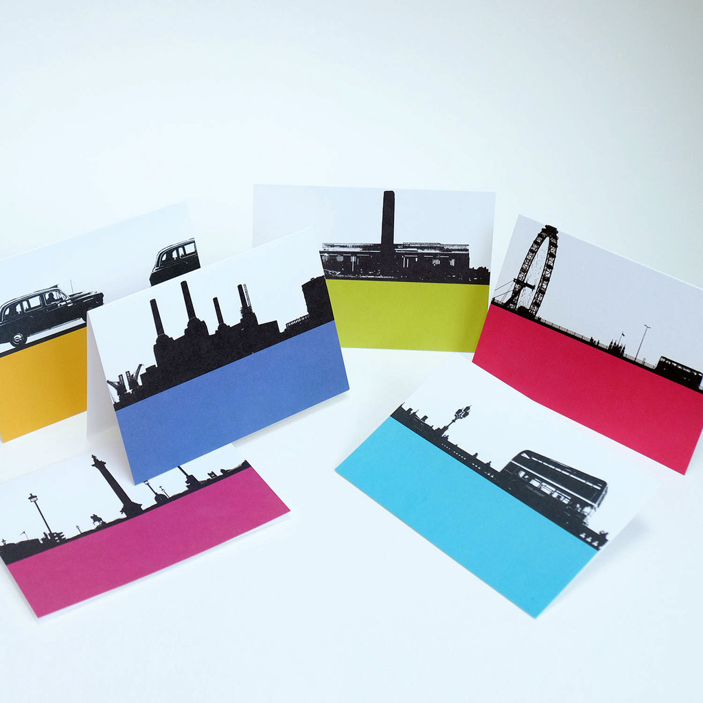 London Cityscape card pack of 6 by Jacky Al-Samarraie Pack One