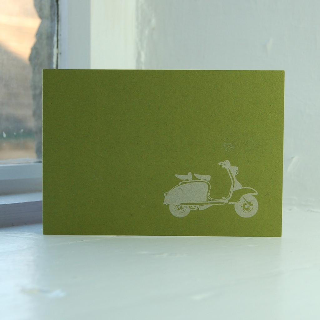Jacky Al-Samarraie Lambretta Greeting Card