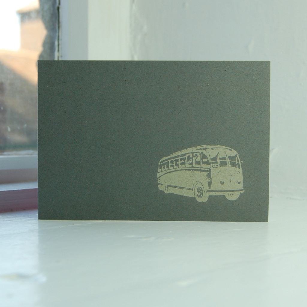 Jacky Al-Samarraie Bus Greeting Card