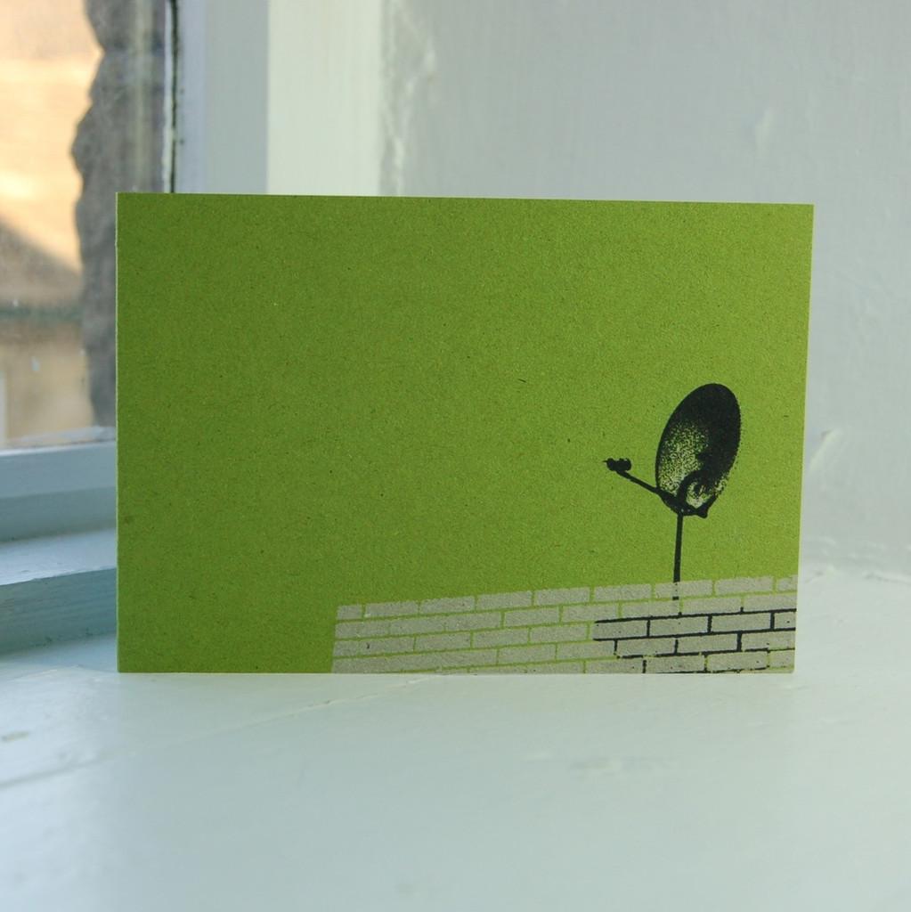 Jacky Al-Samarraie Satellite Dish Greeting Card