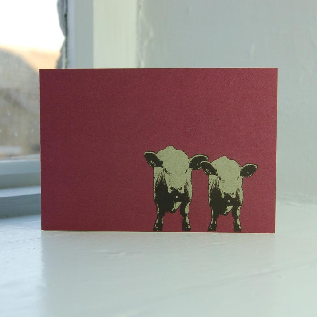 Jacky Al-Samarraie Cows Greeting Card