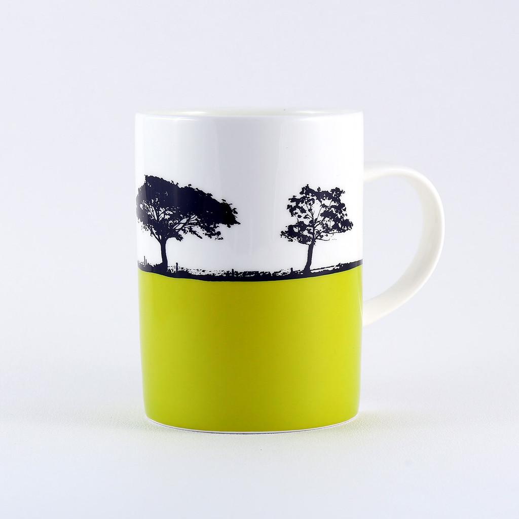 Lime Harrogate Landscape bone china mug, North Yorkshire. The Art Rooms