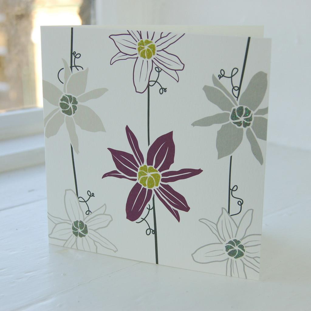 Jacky Al-Samarraie Clematis Greeting Card