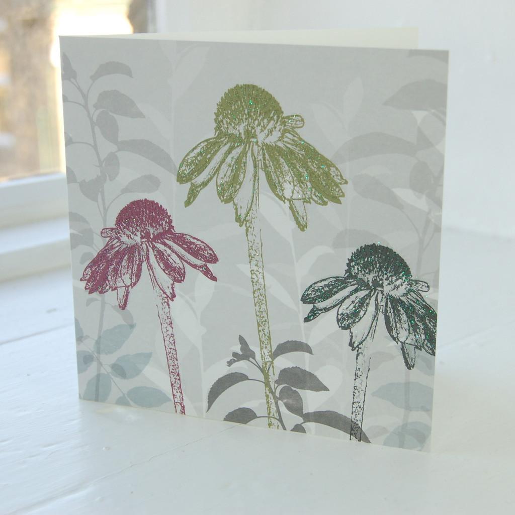 Jacky Al-Samarraie Echinacea Floral Greeting Card