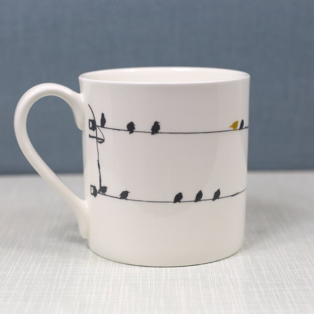 Jacky Al-Samarraie Birds on a Wire Bone China Mug