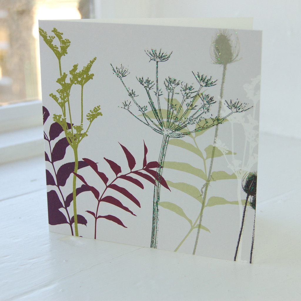 Jacky Al-Samarraie Cow Parsley and Butterfly Greeting Card