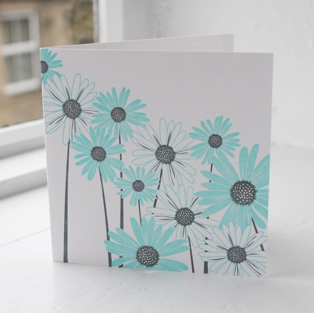 Jacky Al-Samarraie Daisy Letterpress Greeting Card