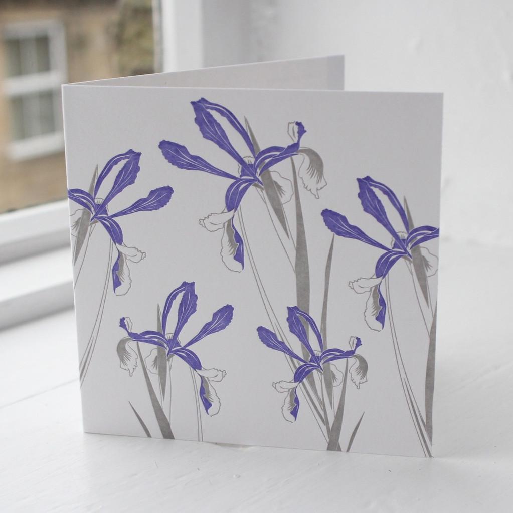 Jacky Al-Samarraie Iris Letterpress Greeting Card