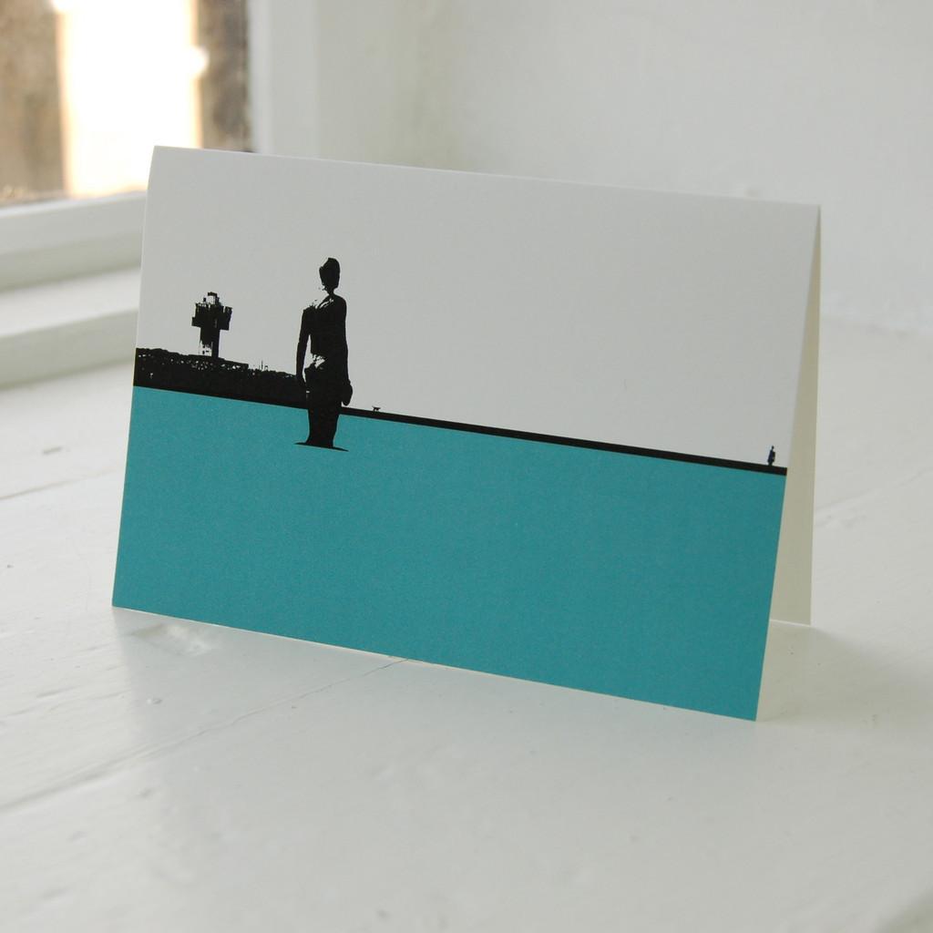 Jacky Al-Samarraie Crosby Beach Greeting Card