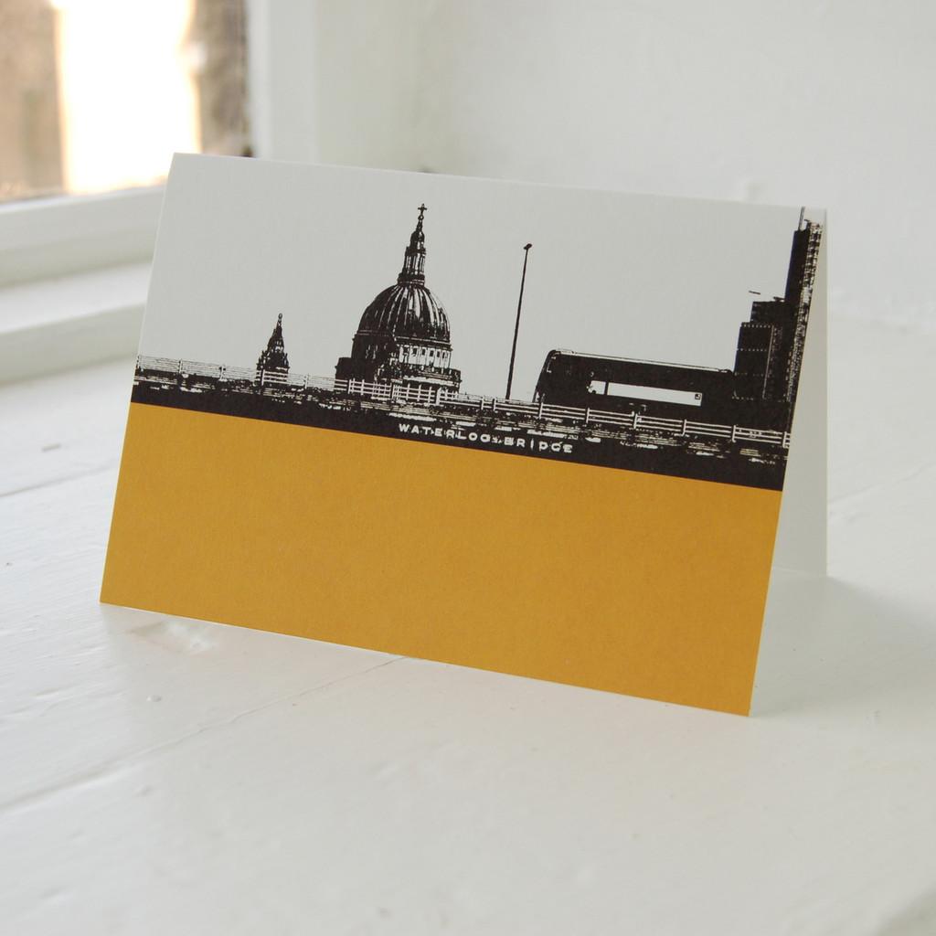 Jacky Al-Samarraie Waterloo Bridge Greeting Card
