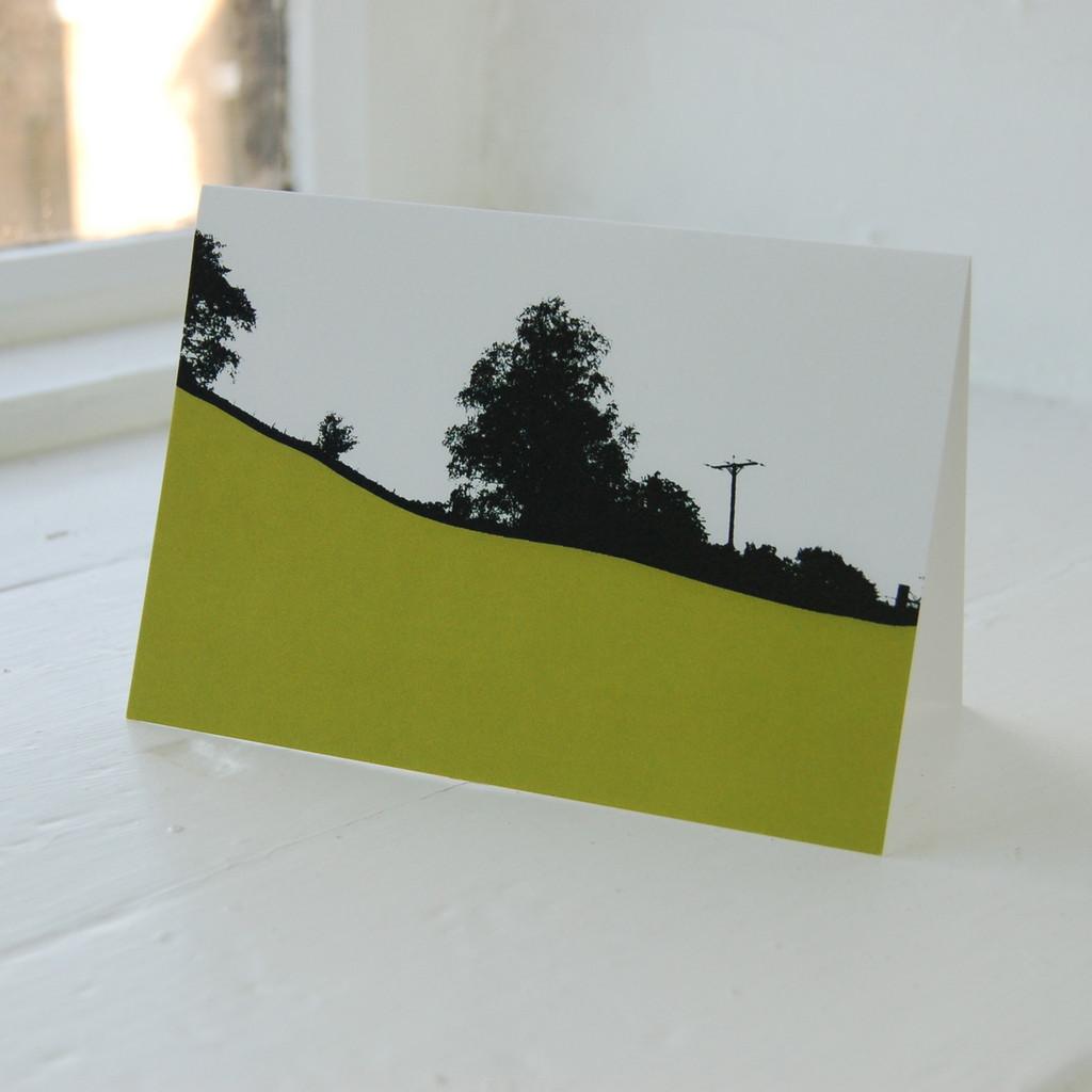Jacky Al-Samarraie Langdale Green Greeting Card