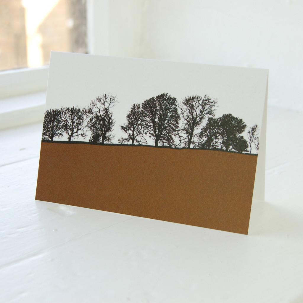 Jacky Al-Samarraie Dales - Burnsall Brown Greeting Card