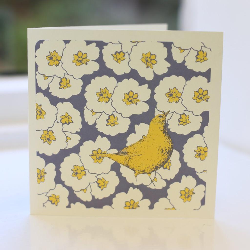 Jacky Al-Samarraie Song Thrush Blue Greeting Card