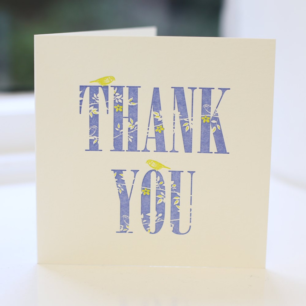 Jacky Al-Samarraie Thank you Letterpress Greeting Card