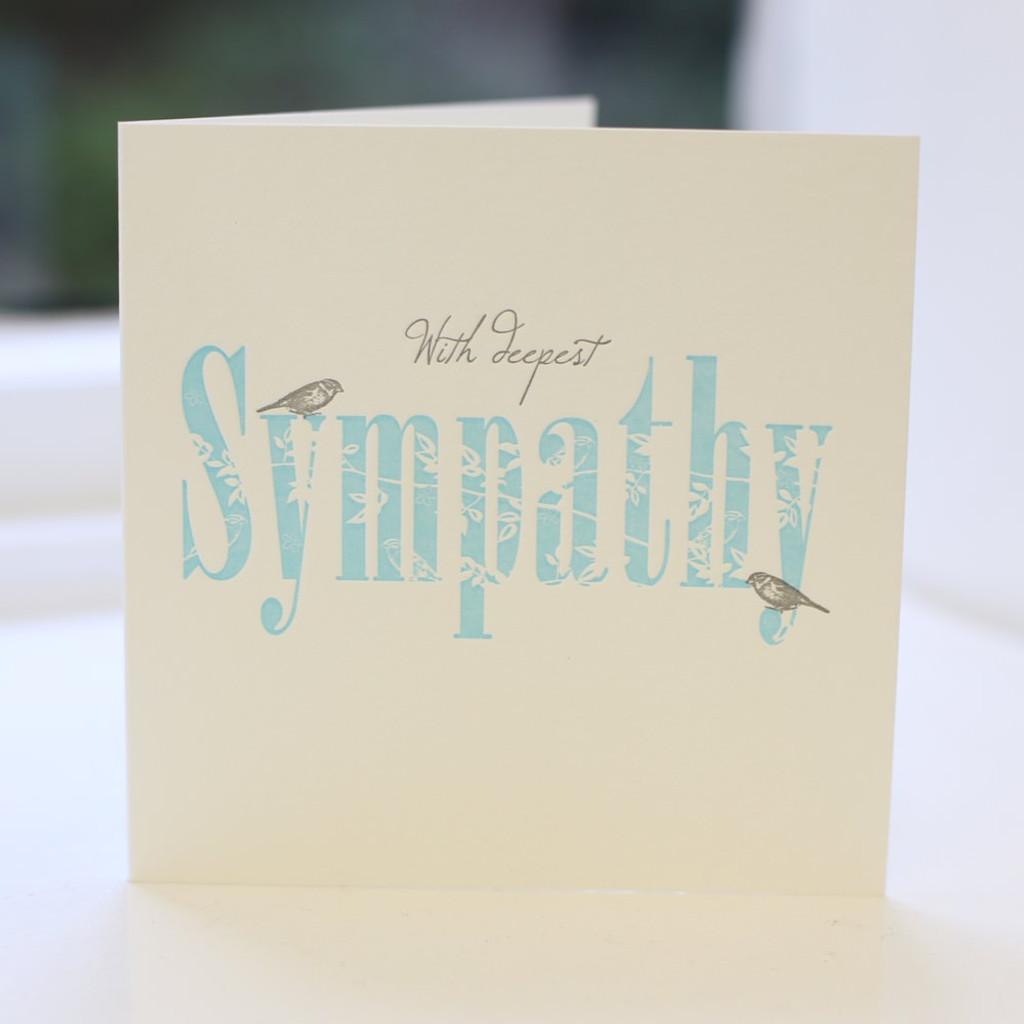 Jacky Al-Samarraie Sympathy Letterpress Greeting Card