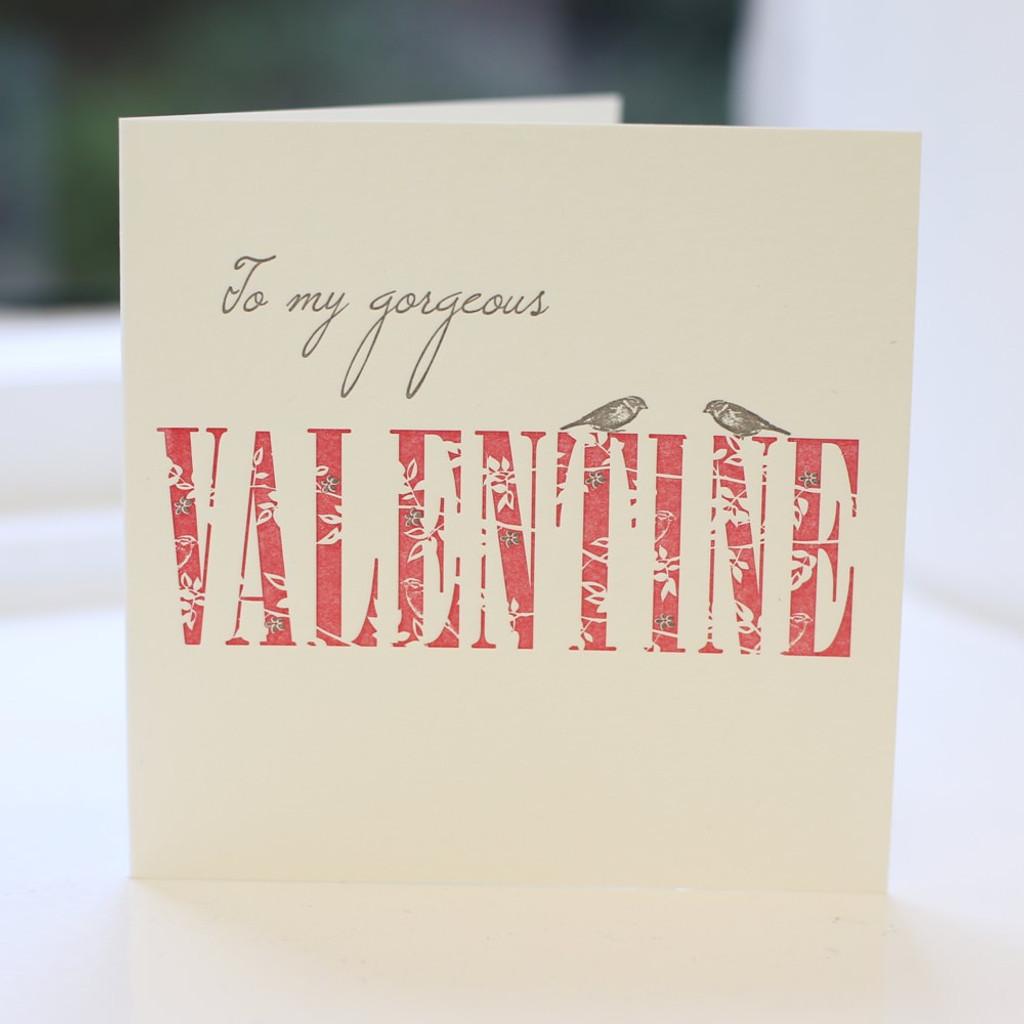 Jacky Al-Samarraie Valentine Letterpress Greeting Card