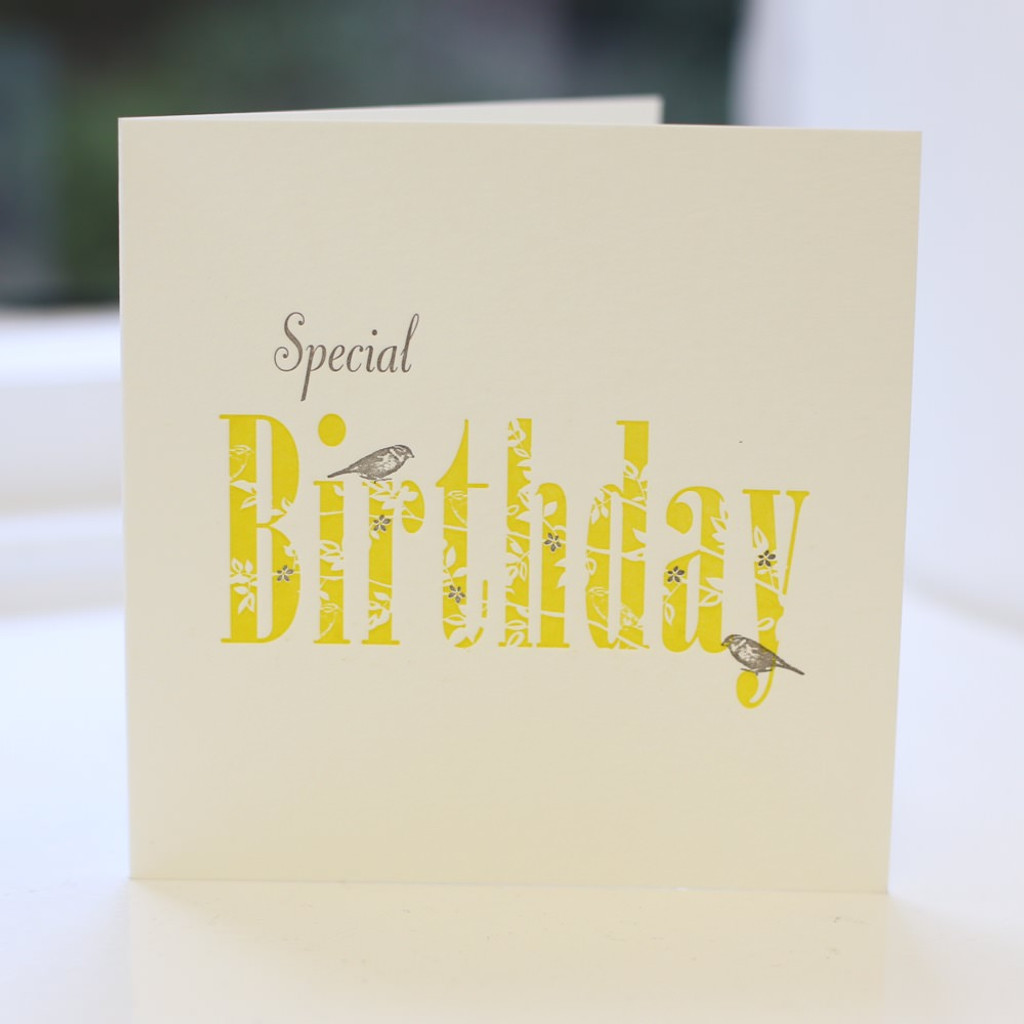 Jacky Al-Samarraie Special Birthday Letterpress Greeting Card