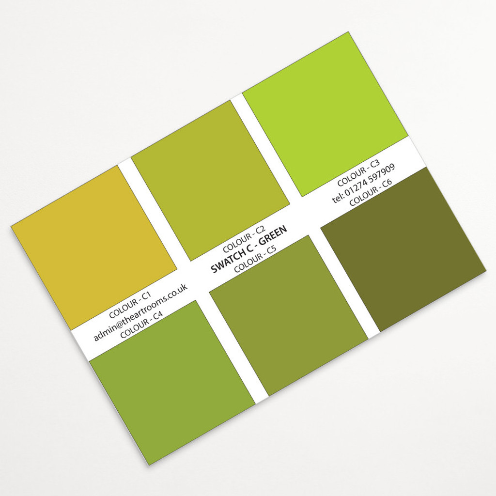 The Art Rooms Landscape Print Swatch Colours - Green