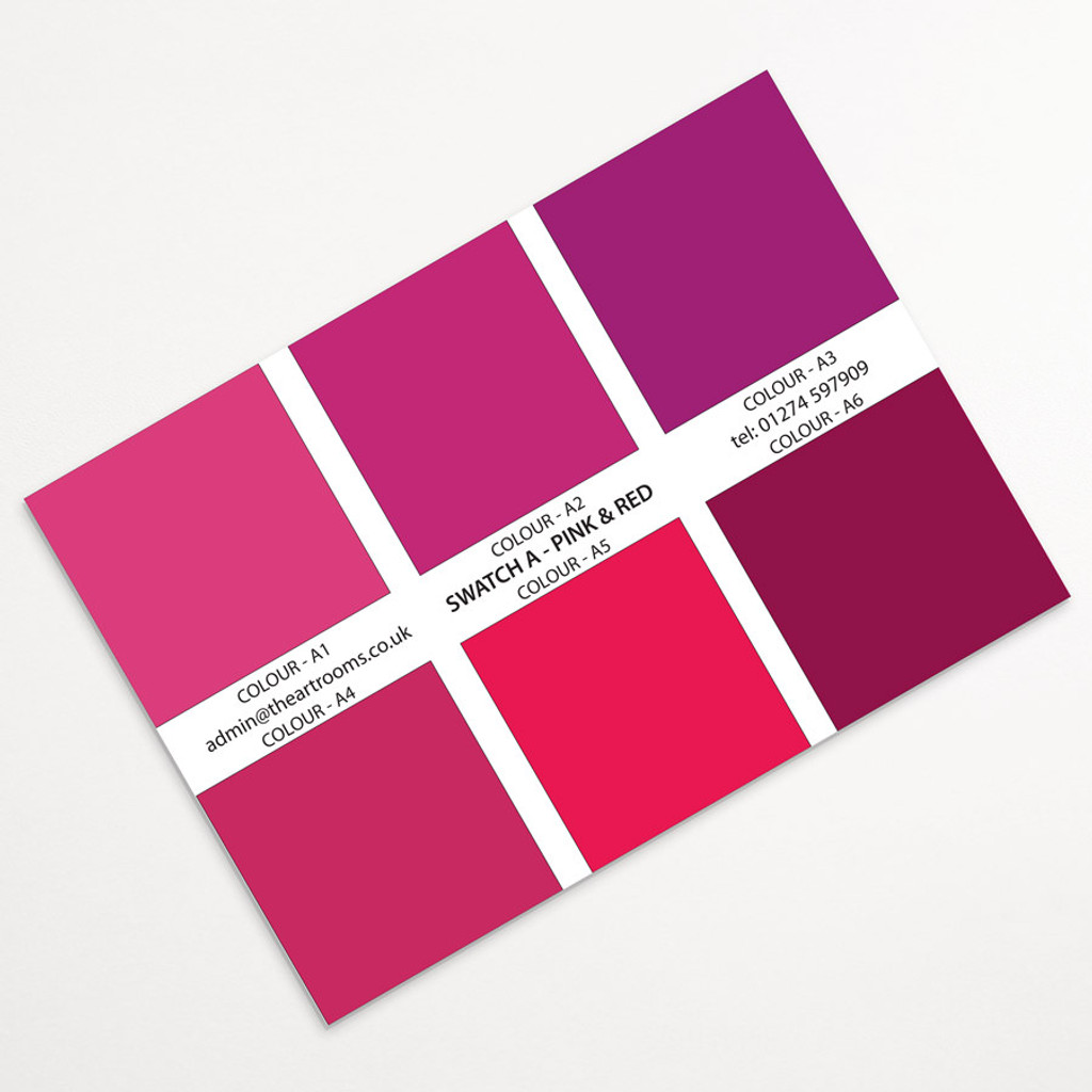 The Art Rooms Landscape Print Swatch Colours - Pinks & Reds