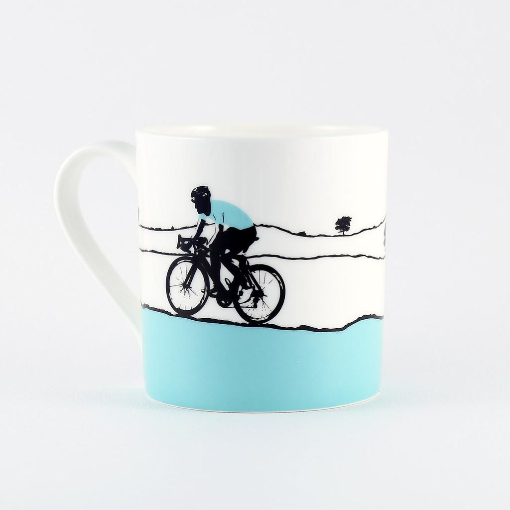 Jacky Al-Samarraie Turquoise Jersey Cycling China Mug