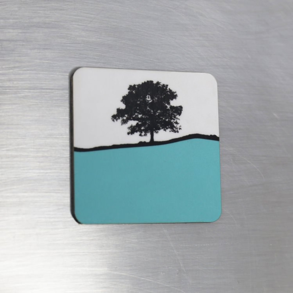 Jacky Al-Samarraie Fridge Magnet - Turquoise