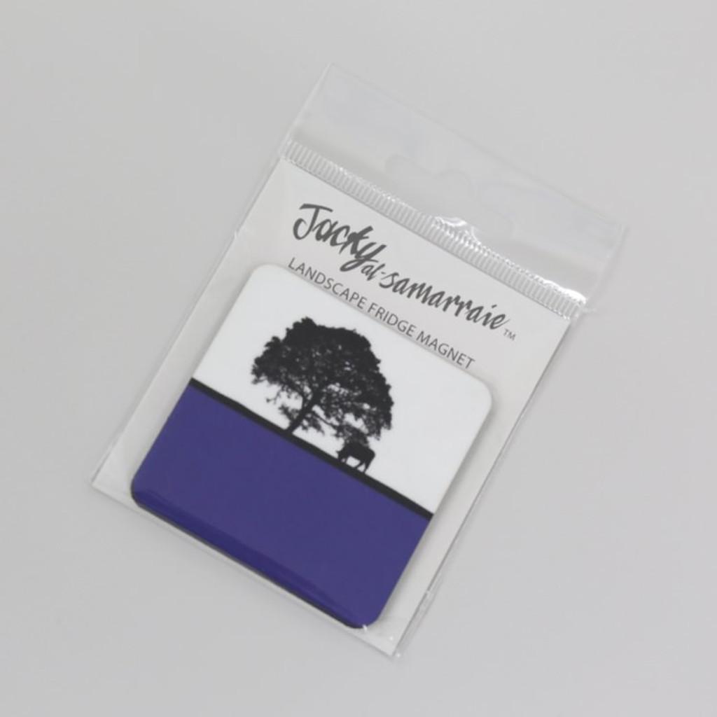 Jacky Al-Samarraie Fridge Magnet - Blue