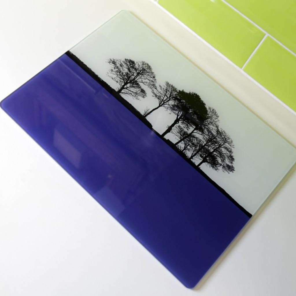 Jacky Al-Samarraie Landscape Glass Worktop Saver - Blue