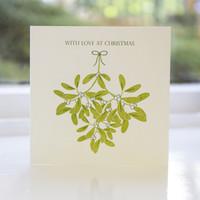 Jacky Al-Samarraie Mistletoe Letterpress Christmas Card
