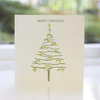 Jacky Al-Samarraie Pack of 8 Letterpress Christmas Cards