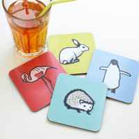 Jacky Al-Samarraie Animal Coaster Set
