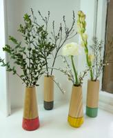 Wood Vase Group
