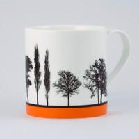 Jacky Al-Samarraie Orange Landscape Tree Bone China Mug