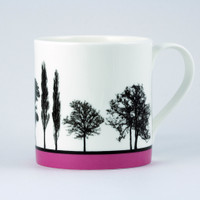 Jacky Al-Samarraie Pink Landscape Tree Bone China Mug