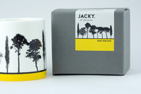 Jacky Al-Samarraie Yellow Landscape Tree Bone China Mug with Gift Box