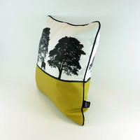 Cotton Cushion, square shape. Tree design by Jacky Al-Samarraie