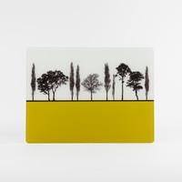 British landscape design mustard glass worktop saver by Jacky Al-Samarraie