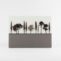 English landscape design grey glass worktop saver by Jacky Al-Samarraie