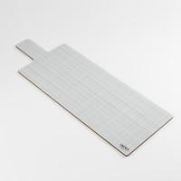 Back of long thin landscape melamine chopping board pattern by designer Jacky Al-Samarraie