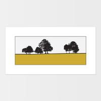 Landscape print of Roundhay Park in Leeds, West Yorkshire by designer Jacky Al-Samarraie.