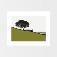 Landscape print of Top Withens in Haworth, Yorkshire by designer Jacky Al-Samarraie.
