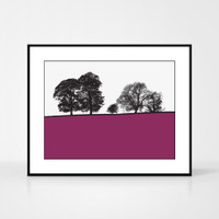 Landscape print of Windermere in the Lake District by designer Jacky Al-Samarraie.  Shown in frame for reference.
