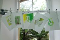 Group monotype prints