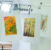 Monotype Prints with colour
