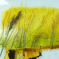 Monotype print with grasses