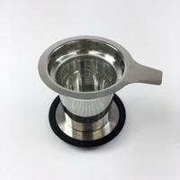 Metal tea filter with lid
