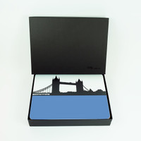 London Set of Eight Table Mats with Luxury Gift Box by Jacky al-Samarraie